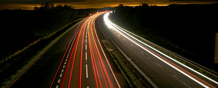Linemarking---highway-lines-at-night